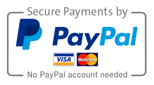 Secure Payments by PayPal-Visa-Mastercard